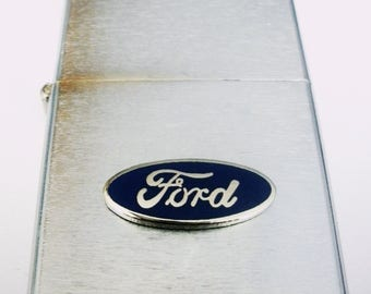 Ford Brushed Chrome Windproof Lighter