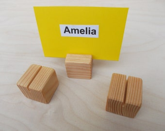 100 unfinished stands place card holders wood place card holders table number holders