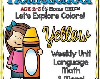 Preschool Homeschool Yellow Unit