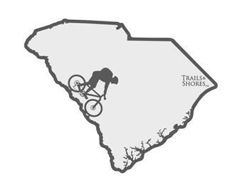 South Carolina Mountain Biking Decal