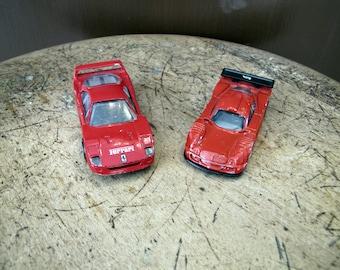 Vintage Hot Wheels Toy Car, Vintage Matchbox Toy Car, Ferrari F40 Toy Car, Mercedes CLX-LM Toy Car,
