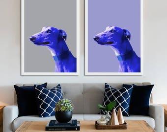 Greyhound portrait, Greyhound pop art, Greyhound poster, Greyhound art print, Greyhound wall art, Greyhound art, greyhound drawing, Lurcher