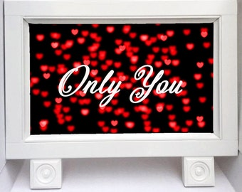 Chalkboard Sign - Wedding Chalkboard Sign - Wedding Decor - Standing Chalkboard - Valentine's Day - Only You