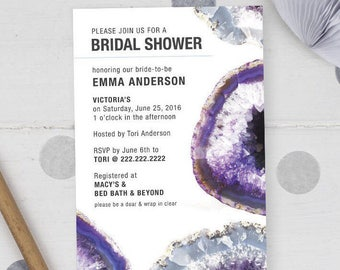 Geode Party / Bridal Shower / Wedding /Invitation Printable