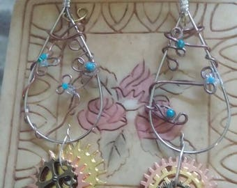 Hand made steam punk earrings.