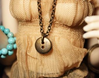 MSD Vintage Button Necklace