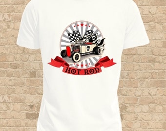 Hot Rod T-Shirt, Mens or Flattering Women's Fit, For a Vintage Car enthusiast, Classic Car Lovers Shirt, Take The Long Road