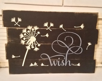 Primitive Dandelion Wish Sign