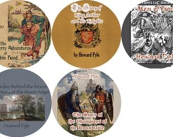 Lot of 5 Howard Pyle (Color Fronts) Mp3 CD Audiobooks Robin Hood / King Arthur