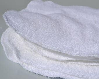 "Terry baby wipes- 12 textured cloth wipes 7"" x 7"""
