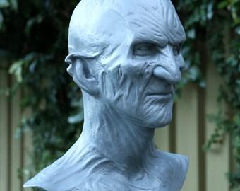1:1 Scale Freddy Krueger Resin Bust Blank Nightmare on Elm Street 2