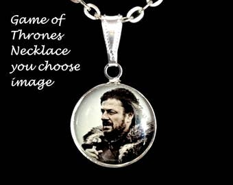 Game of Thrones,necklace,you choose image,game of thrones necklace,charms,bracelets,earrings,charm bracelets,gifts,necklaces,pendants
