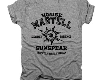 House Martell, Game of Thrones, GOT, T-shirt, Muscle, Unisex, V-Neck, Racerback, Hoodie, Baseball, Onesie, Pullover, Infant, Youth Tee T108