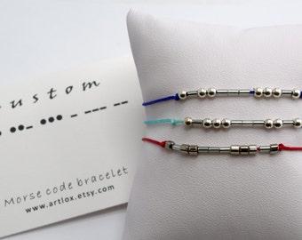 Custom  - Morse Code Bracelet