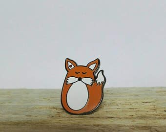 Fox enamel pin Fox pin Fox Brooch Fox Jewellery, animal lover. Fox badge. Animal lover gift. pin game button badge lapel pin kawaii fox gift