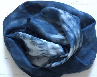 Hand Dyed Long Silk Scarf