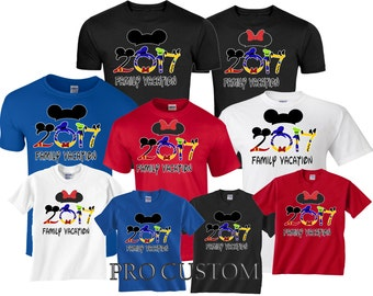 Family VACATION DISNEY 2017 Mickey and Minnie funny cute Customized T-Shirts