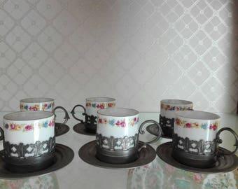 Bavaria kronester, served 1960, porcelain cups bavaria