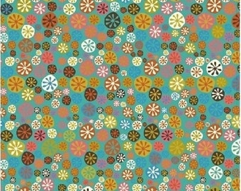 "Windham Fabrics   ""A Nod to Mod""  Happy Buttons  by Jan Avellana  Blue"