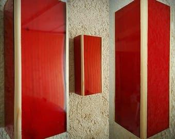 Wall lamp, Wall lamp, stairs lamp, wooden lamp, red lamp, Wall lamp, floor lamp