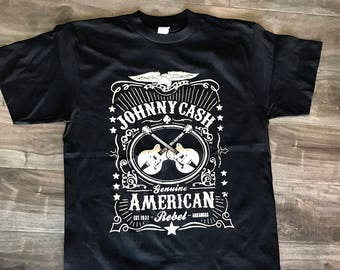 Johnny Cash T-SHIRT genuine American Rebel