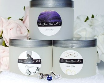 Jewelry Body Butter w/Hidden Sterling Silver or Gold - Lavender, Dark Kiss or Essence - No Costume Jewelry!