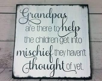 Grandpa Sign/Father's Day/Grandparents Gift