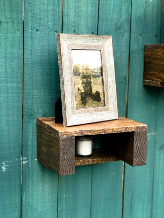 Pallet Wood Accent Shelf Floating Shelf farmstyle