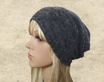 Slouchy beanie hats, Hippie slouch hats, Gray slouchy beanie, Womens slouchy hats, Oversised hats, Boho style beanie, Beanie for spring