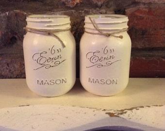 1 Vintage style Mason jar, Shabby chic, Vintage, storage