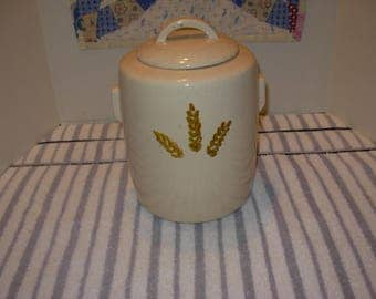 McCoy Speckled Wheat Design Cookie Jar 1970s