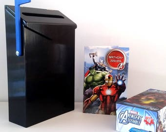 LIQUORICE LETTERBOX (kids letterbox, snailmail, kids mailbox, kids wooden decor, wooden toy, penpals, keepsake, birthday, gift idea)