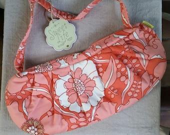Amy Butler Tote, knitting, knitting bag purse, Amy Butler August Field, Rowan, home dec fabric new fabric