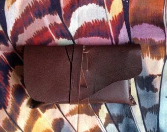 CUSTOM MADE Leather Tarot Pouch, Kangaroo Hide