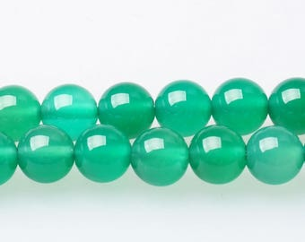 Brazil Green Chalcedony Beads Natural, Full Strand 15 inch, Round calcedony Stone, Gemstones Beads, 4mm 6mm 8mm 10mm 12mm - B094