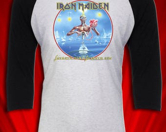 Seventh Son of a Seventh Son 1988 Vintage Heavy Metal Tour Jersey Tee