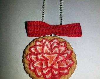 Strawberry pie necklace