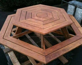 Custom Hexagon Picnic table