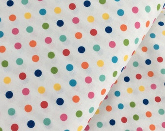Multicolor Aspirin Polka Dot Cotton Fabric from the Basic Brights Collection by Windham Fabrics