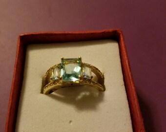 Women's Blue Topaz Ring
