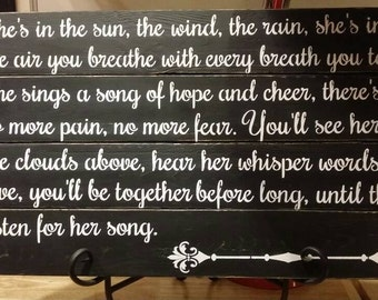 She is in the sun Wooden Pallet Sign / Wall Decoration / Poem .