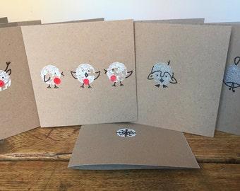 Hand printed Christmas cards