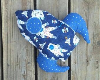 Astronaut Rocket Outer Space Universe Explorer Pillow Plush Stuffed Space Ship Toy