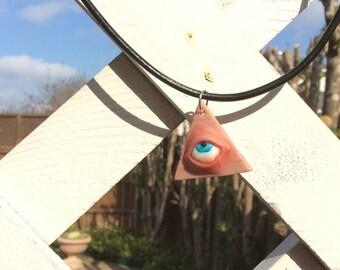 Realistic Illuminati Eye Pyramid Neckalce