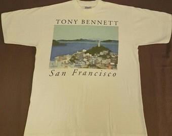 Vintage Tony Bennett San Fransisco tee 90s Men's XL