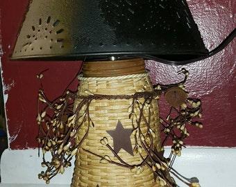 Primitive Woven Lamp