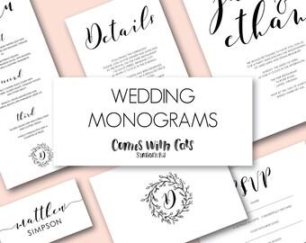 Wedding monogram / wedding invitation logo / affordable printable wedding / digital file
