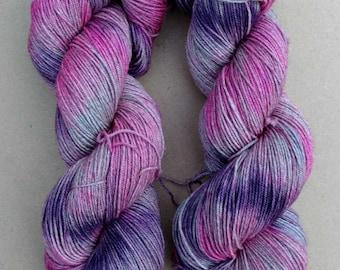 Yak Eho- Hand dyed yarn, sock weight, Yak, Superwash Merino, Nylon, 437 yards,