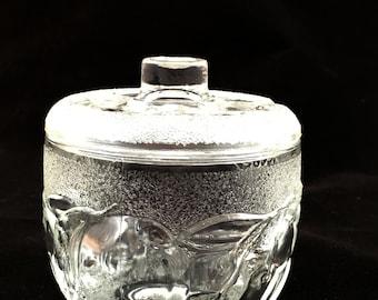 Frosted glass preserve jar