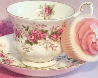 Pretty In Pink-Royal Albert Lavender Rose Teacup and Saucer